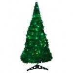 Ель декоративная B&h 210см, светодиодная, 200 ламп, из мишуры с листьями