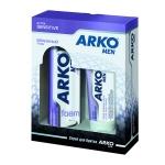 Подарочный набор Arko Sensitive, пена для бритья, бальзам после бритья