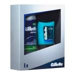 Подарочный набор Gillette Series Sensitive, гель до и после бритья