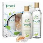 Подарочный набор Timotei Мягкий уход, шампунь, бальзам, резинки для волос