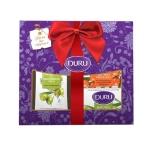 Подарочный набор Duru Nature's Treasures олива/облепиха, гель для душа, мыло 2шт