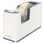 Диспенсер с клейкой лентой Leitz Wow до 19мм х33м, белый, 53641001