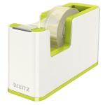 Диспенсер с клейкой лентой Leitz Wow до 19мм х33м, зеленый металлик/белый, 53641064