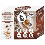 Кофе молотый Segafredo 100г, с трафаретами для кофе, 6шт