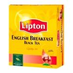 Чай Lipton, черный, 100 пакетиков, English Breakfast