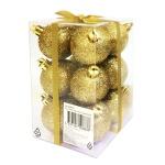 Набор шаров Tarrington House 12шт, 50мм, блестящие, золото, 564653