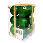 Набор шаров Tarrington House 12шт, 50мм, блестящие, зеленый, 564701