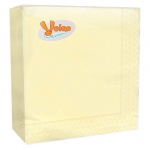 Салфетки сервировочные Veiro желтые, 33х33см, 2 слоя, 25шт