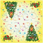 Салфетки сервировочные Veiro Новый год, 33х33см, 3 слоя, 20шт