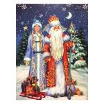 Украшение оконное Tarrington House Новый год Снегурочка и Дед Мороз