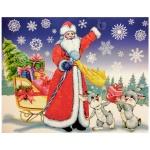 Украшение оконное Tarrington House Новый год Дед Мороз с подарками