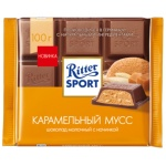 Шоколад Ritter Sport 100г, карамельный мусс, молочный