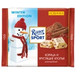 Шоколад Ritter Sport, корица и хлопья белый