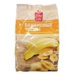 Банан Fine Life сушеный, чипсы, 400г