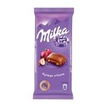 Шоколад Milka молочный фундук и изюм, 90г