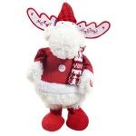 Фигура новогодняя Tarrington House Танцующий олень с музыкой красный, 38.5см, 564705