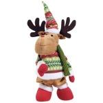 Фигура новогодняя Tarrington House Танцующий олень с музыкой зеленый, 38.5см, 564707