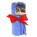 Плед флисовый голубой, 130х170см