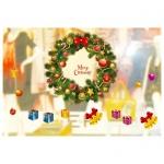 Украшение оконное Mag-2000 Венок Merry Christmas, 64х80см, CT-054