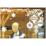 Украшение оконное Mag-2000 Узор елочных шаров, 64х80см, CT-008