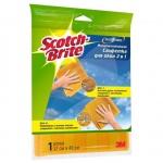 Салфетка хозяйственная Scotch-Brite Ultra 2в1 для окон, 32х40см, микроволокно