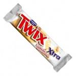 Батончик шоколадный Twix Xtra white, в белом шоколаде, 82г