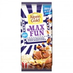 Шоколад Alpen Gold Max Fun кола-попкорн-взрывная карамель, 160г