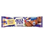 Шоколад Alpen Gold Max Fun карамель-мармелад-печенье, 38г