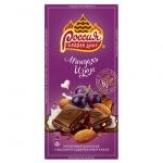 Шоколад Россия миндаль-изюм, 90г