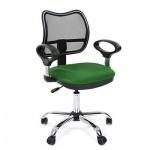 Кресло офисное Chairman 450 ткань, зеленая, СТ TW-18/TW-03, крестовина хром