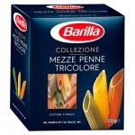 Макаронные изделия Barilla Mezze Penne трехцветные, 500г