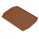 Поднос для фаст-фуда коричневый, 42х32см