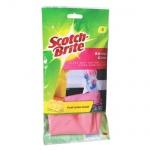 Перчатки латексные Scotch-Brite, розовые, S