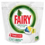 Капсулы для ПММ Fairy All in 1 Original, 24шт, лимон