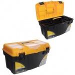 """Ящик для инструментов Idea Титан 21"""", пластик, черно-желтый"""