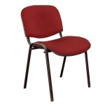 Стул посетителя Furniture Изо ткань, черная, красная, на ножках