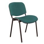 Стул посетителя Furniture Изо ткань, зеленая, на ножках