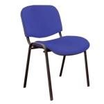 Стул посетителя Furniture Изо ткань, синяя, на ножках