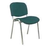 Стул посетителя Furniture Изо ткань, на ножках, хром, зеленый