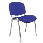 Стул посетителя Furniture Изо ткань, на ножках, хром, синий
