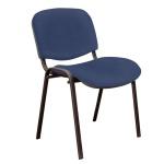 Стул посетителя Furniture Изо иск. кожа, синяя, на ножках
