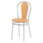 Стул для кафе Новый Стиль Florino иск. кожа, песочная, каркас хром, комплект, 2шт