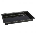 Контейнер одноразовый для суши Стиролпласт Сп-25Д 23.5х16.2х2.5см, черный