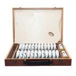 Набор художественный Малевичъ Oil Premium 24 для живописи маслом, 24 цвета х 40мл, разбавитель 50мл, разбавитель без запаха 50мл, 4 кисти, палитра