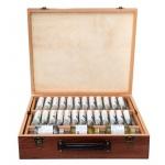 Набор художественный Малевичъ Oil Premium 50 для живописи маслом, 50 цветов х 40мл, разбавитель 125мл, даммарный лак 125мл, льняное масло 125мл, 5 кистей, палитра, масленка