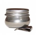 Масленка Малевичъ с крышкой, d=3.6см, металлическая