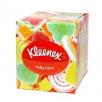 Салфетки косметические Kleenex Collection 100шт, 21.6х21.6см, 2слоя, белые