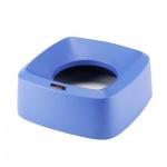 Крышка для контейнера Vileda Pro Ирис 60л, воронкообразная, прямоугольная, синяя, 137743