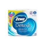 Туалетная бумага Zewa Deluxe, 3 слоя, 4 рулона, 150 листов, 21м, без аромата
