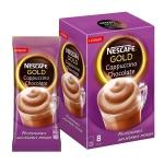 Кофе порционный Nescafe Gold Cappuccino Chocolate, 8шт х 22г, растворимый, коробка